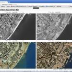 Evolució històrica del territori. Visualització de la transformació de la'àrea del parc del Fòrum a Barcelona.