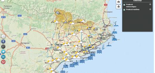 Instamapes. Mapa de prediccions meteorològiques