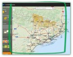 Àrea de visualització de cartografia