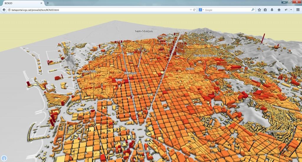 Barcelona, alçades LOD1. Vista 3