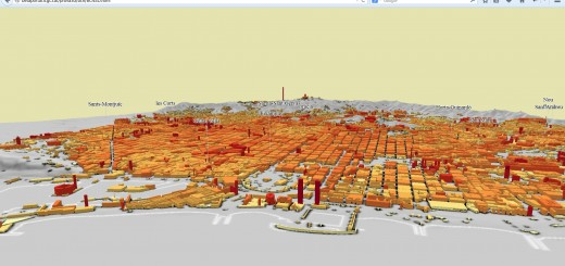 Barcelona, alçades LOD1. Vista 2