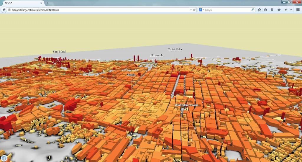 Barcelona, alçades LOD1. Vista 5