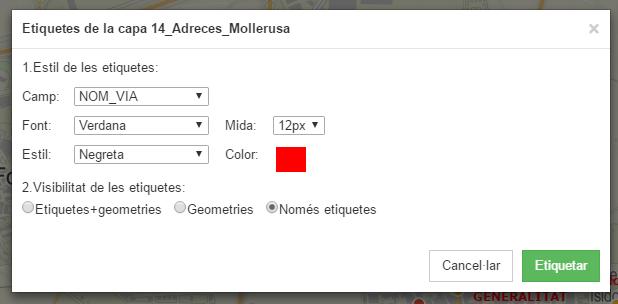 Instamaps etiquetes UI