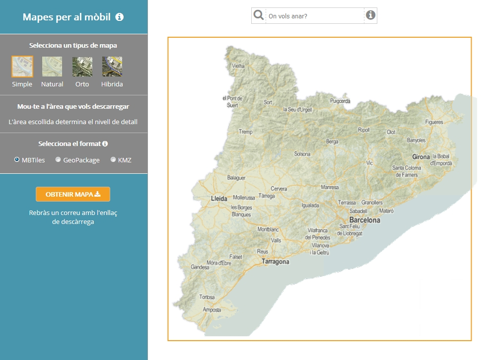 ICGC geostart cartografia mapes mòbil descarregar 1