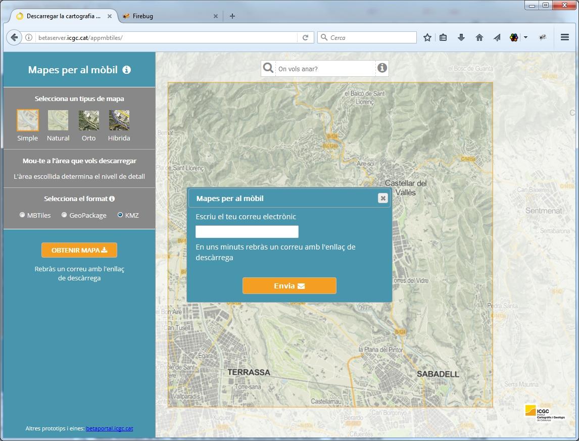 ICGC geostart cartografia mapes mòbil descarregar 3