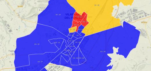 Exemple de com representar informació municipal en mapes. Resultats electorals a Vilafranca del Penedès.